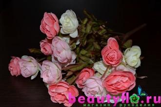 Букет камелий бело-розовый