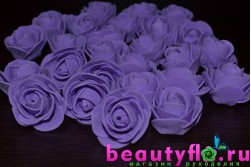 Розочка головка (латексная)  фиолетовая, 3,5см