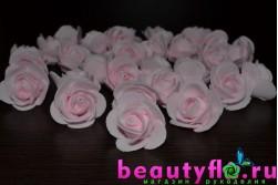 Розочка головка (латексная) светло-розовая, 3,5см