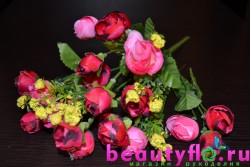 Букет мини-камелий красно-розовый