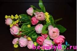 Букет мини-камелий розовый