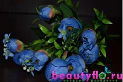 Букет камелий синий