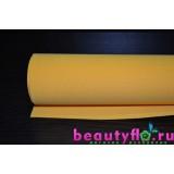Фоамиран желто-оранжевый 50*50 1мм