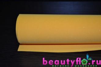 Фоамиран желто-оранжевый 50*50
