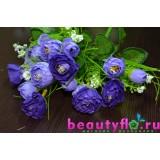 Букет камелий гофрированных фиолетовый
