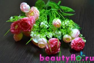 Букет камелий гофрированных розовый