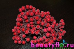 Ягодки в сахаре на проволоке красные, 20 шт