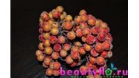 Ягодки в сахаре на проволоке оранжевые, 20 шт