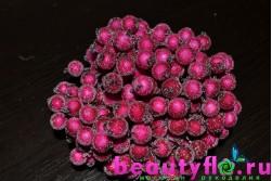 Ягодки в сахаре на проволоке розовые, 20 шт