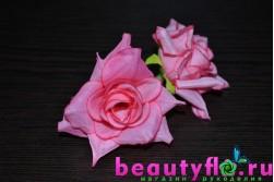 Розочка головка розовая 4см