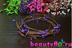 Декоративная проволока с фиолетовыми почками
