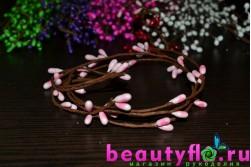 Декоративная проволока с нежно-розовыми почками