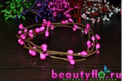 Декоративная проволока с розовыми почками
