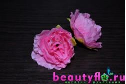 Цветок головка  розовый 4см