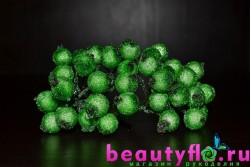 Ягодки в сахаре на проволоке зеленые 20 шт